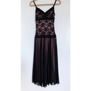Elegant Lace Black Dress
